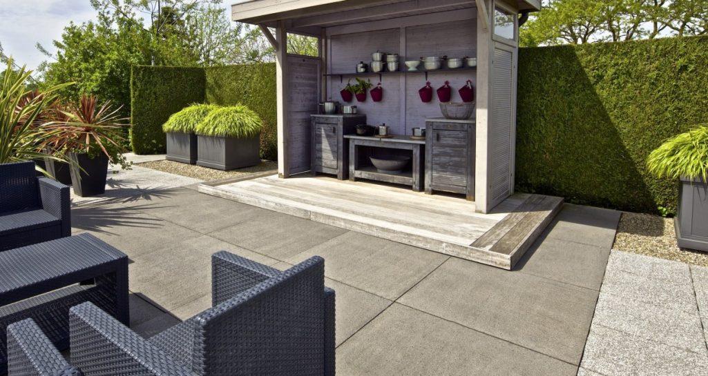 Antraciet Tegels 60x60 : Schellevis tegel 60x60 antraciet direct tuinshop