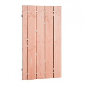 Douglas-Fijnbezaagde-Poort-op-Stalen-Frame-100-x-180-cm-Groen--Plankbreedte-19-cm-