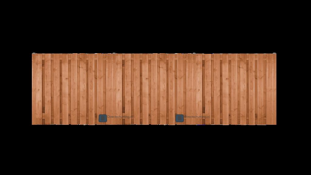 Douglas scherm 19 planken Geschaafd recht 180x180 - Direct Tuinshop