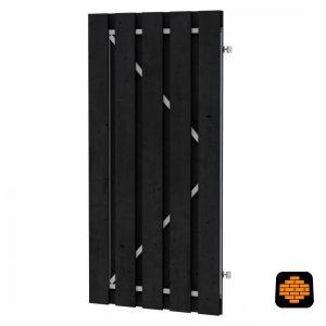 Grenen-Plankendeur-op-Verstelbaar-Frame-100-x-180-cm-Zwart-Geimpregneerd-wormerveer
