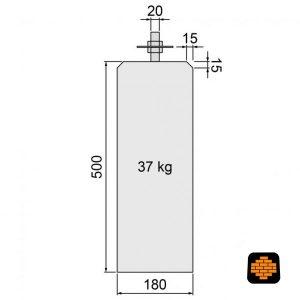 Betonpoer-directtuinshop-Antraciet-18x18-x-50-cm-Met-Verstelbare-Plaat-schets