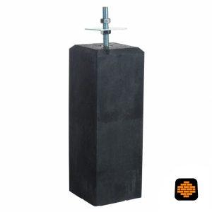 Betonpoer-directtuinshop-Antraciet-18x18-x-50-cm-Met-Verstelbare-Plaat