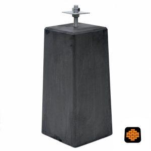 Betonpoer-directtuinshop-XL-225-x-225-x-50-cm-incl-huls-rond-20-mm-antraciet