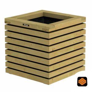 Elan-Bloembak-50-x-50-x-50-cm--Groen-Geimpregneerd-directtuinshop