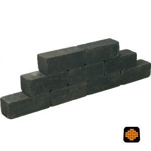 Linea-Palissaden-Getrommeld-15x15x45-Black-directtuinshop