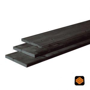 Douglas-plank-Fijnbezaagd-25x25-Zwart-Gedompeld-directtuinshop