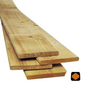 Geimpregneerde-grenen-plank-28x195x400-cm-1-Zijde-Geschaafd-1-Zijde-Ruw-directtuinshop