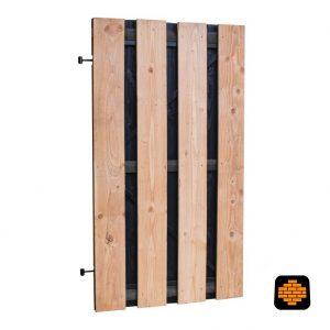 Douglas-Fijnbezaagd-tuinpoort-met-zwarte-binnenzijde-zwart-frame-100-x-180-cm-Directtuinshop