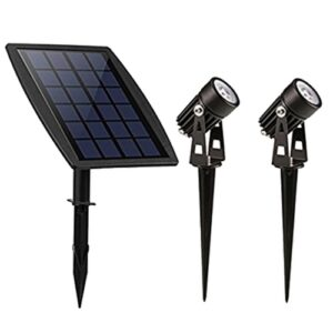 dubbele-spot-solar-2w-IP65-zwart-directtuinshop